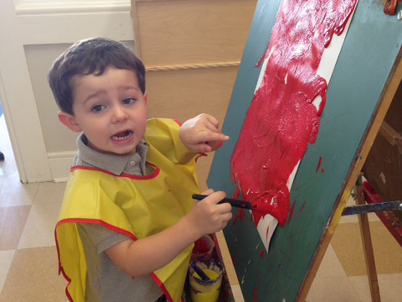 3-Year-Olds Explore with Paint, Trains and Play-Doh