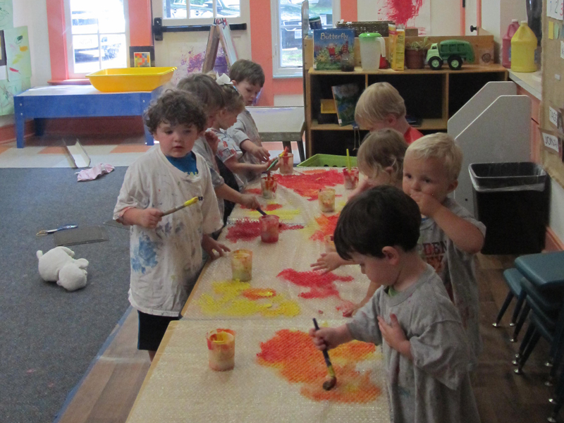 Messy Art with the Twos